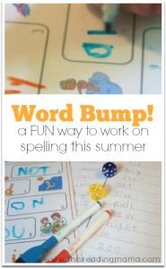 FREE Summer Word Bump This Reading Mama