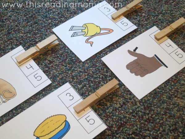 free count and clip phoneme cards