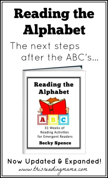 Reading the Alphabet Updated and Expanded - This Reading Mama