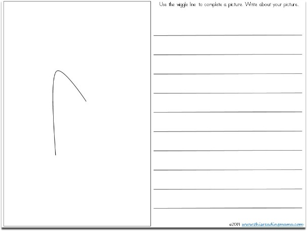 Wiggle Writing Example from FREE Creative Writing Pack | This Reading Mama