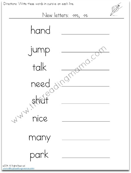cursive handwriting worksheets level 2