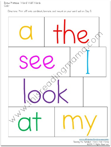 the books printable Alphabet sight little Pack word Bundle Reading
