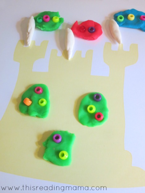 sandcastle playdough mat