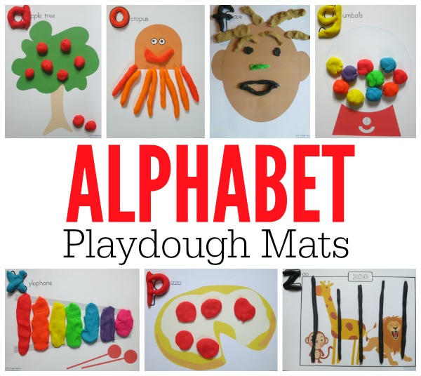 FREE Alphabet Playdough Mats for every letter - This Reading Mama
