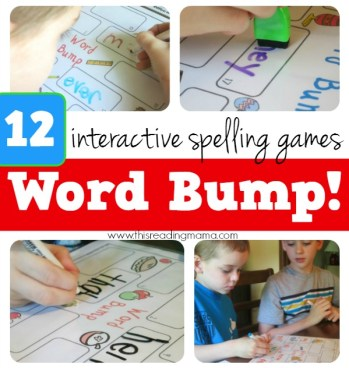 12 FREE Interactive Spelling Games - Word Bump! from This Reading Mama