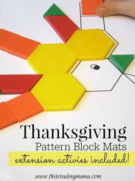 FREE Thanksgiving Pattern Block Mats - This Reading Mama