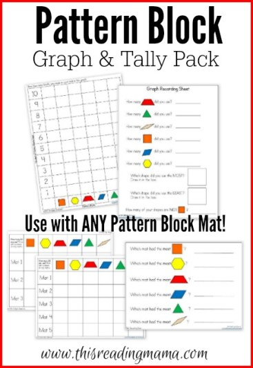Pattern Block Graph and Tally Pack {FREE} | This Reading Mama