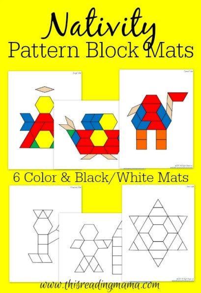 Nativity Pattern Block Mats - This Reading Mama