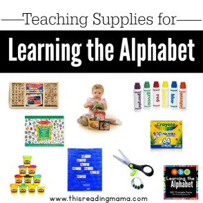 Teaching Supplies for Learning the Alphabet-square
