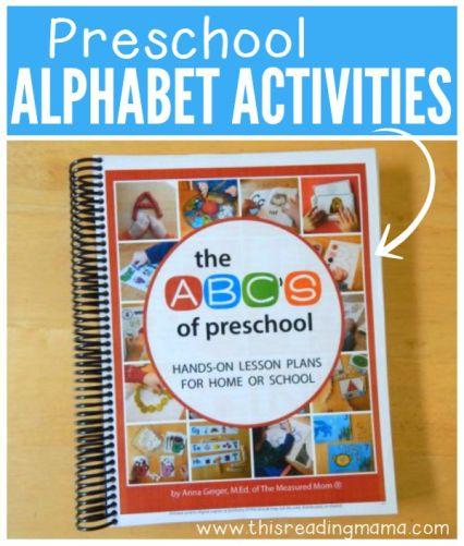 Preschool Alphabet Resources - a HUGE go-to resource for teaching the alphabet