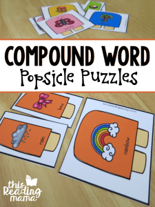 Compound Word Puzzles with Popsicles