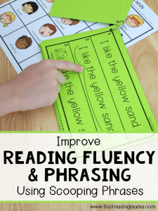 Reading Fluency and Phrasing {Using Scooping Phrases}