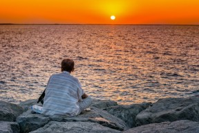 Sunset meditation, Dubai