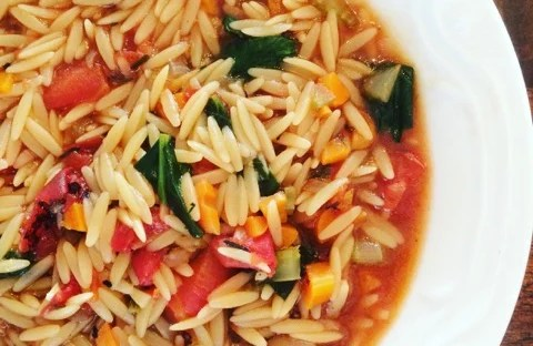 Hearty Vegetable and Orzo Soup | thiswifecooks.com