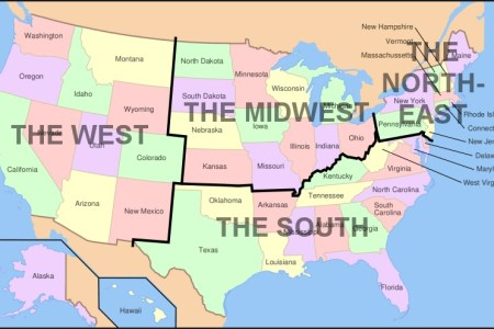 u.s. regions west, midwest, south and northeast