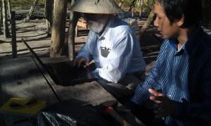 Adrian Mann In Cambodia -- on site in Ratanakiri Province