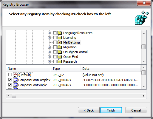 Standardising Outlook Fonts using Group Policy Preferences (3/5)