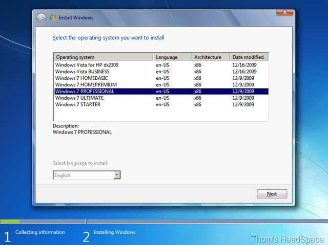 Installing Windows XP over the network using Windows Deployment Services (6/6)