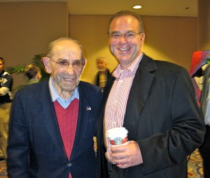 "Peter Winick and Yogi Berra- ""I never said most of the things I said."""