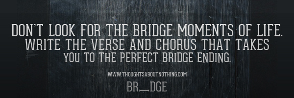 Bridge Typography Graphic