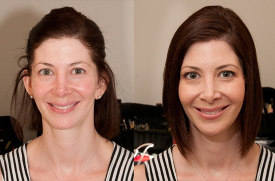 airbrushed before and after