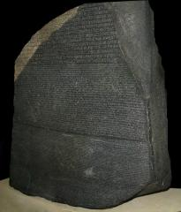 Rosetta Stone - the key to deciphering