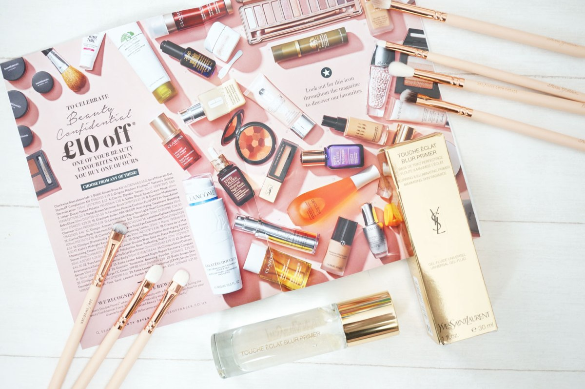 YSL Touche Eclat Blur Primer & Beauty Confidential at House of Fraser
