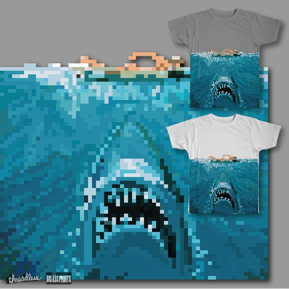 8-Bit Bite, a cool t-shirt design