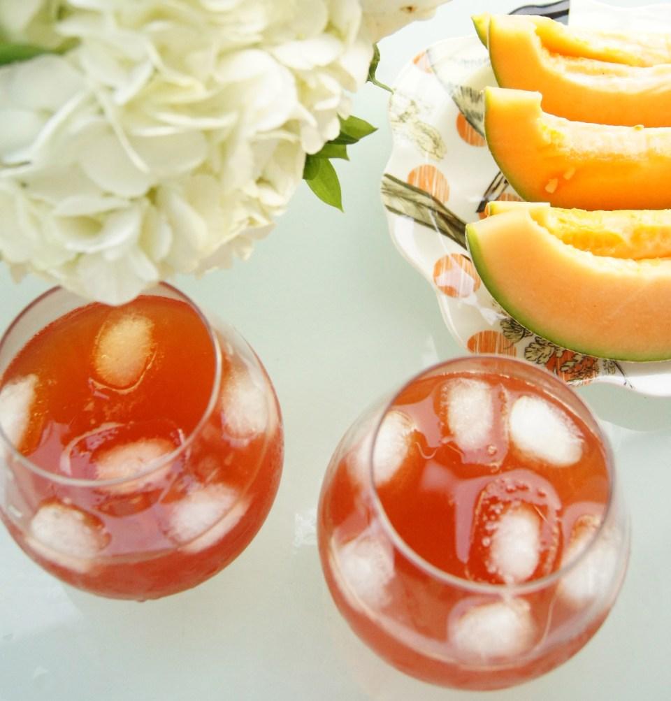 Strawberry Basil & Maple Syrup Iced Tea