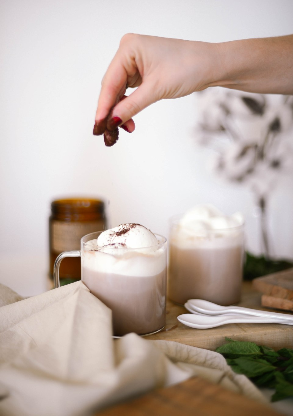 Christmas Cocktails using Kahlua and Baileys - the Peppermint Mocha