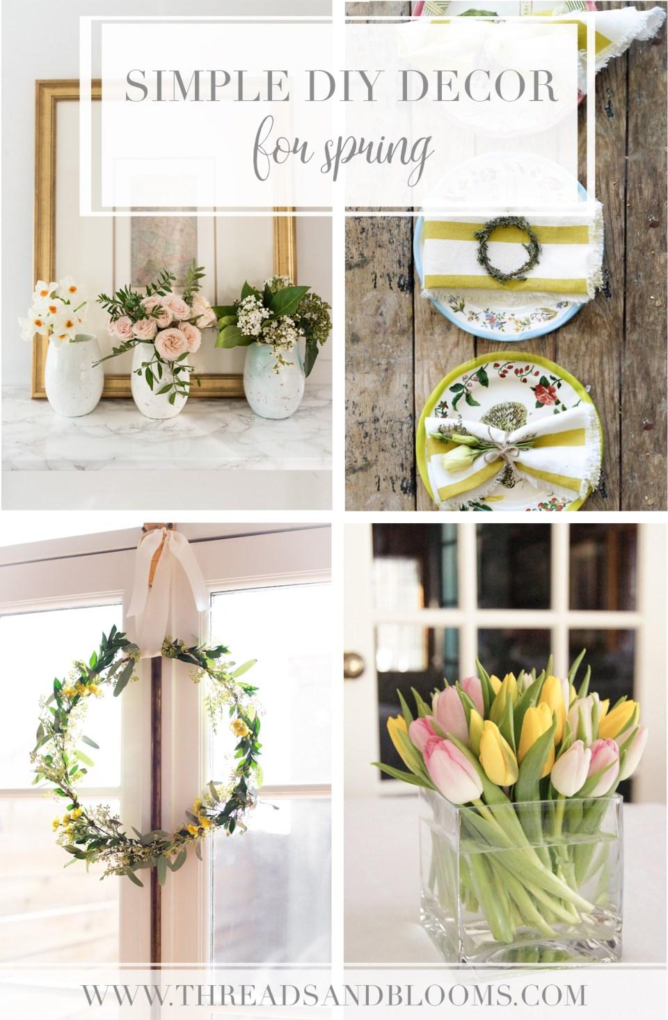 Easter Crafts & Spring Decor Ideas - Simple Spring DIYs