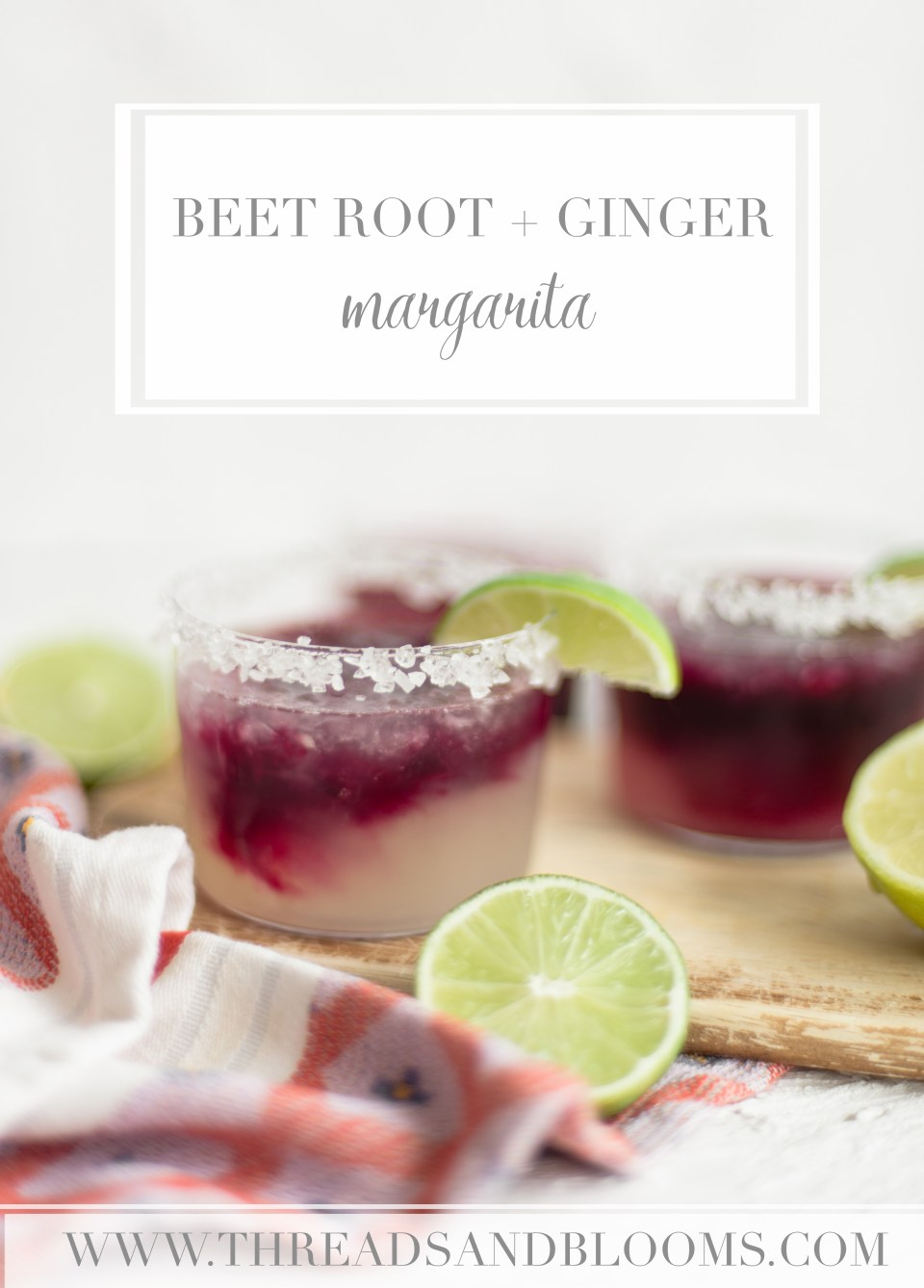 Seasonal Tequila Cocktails - The Beetroot Ginger Margarita