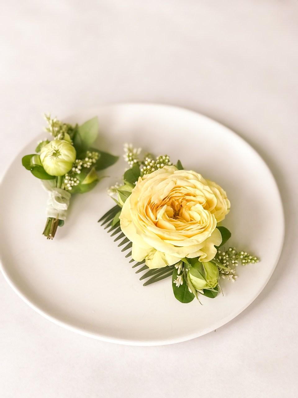 Floral Hair Piece - Simple Floral DIY
