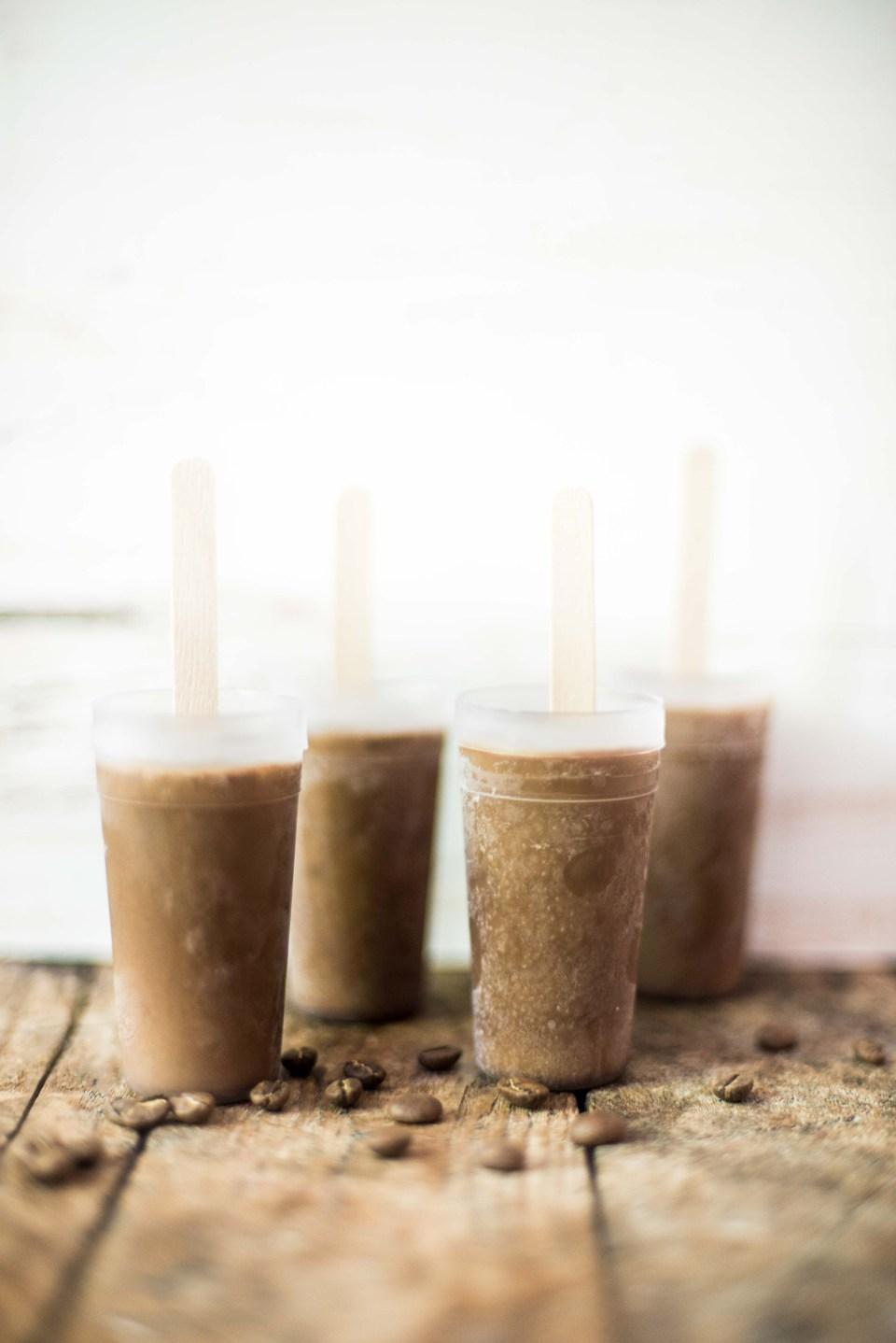 Homemade Coffee Popsicle - Mocha Fudgsicle