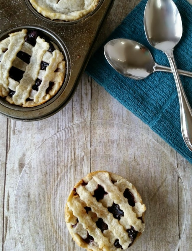 national day of PI blueberry cheesecake mini pies