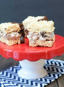 Rocky Road Crisp Rice Ice Cream Sandwiches