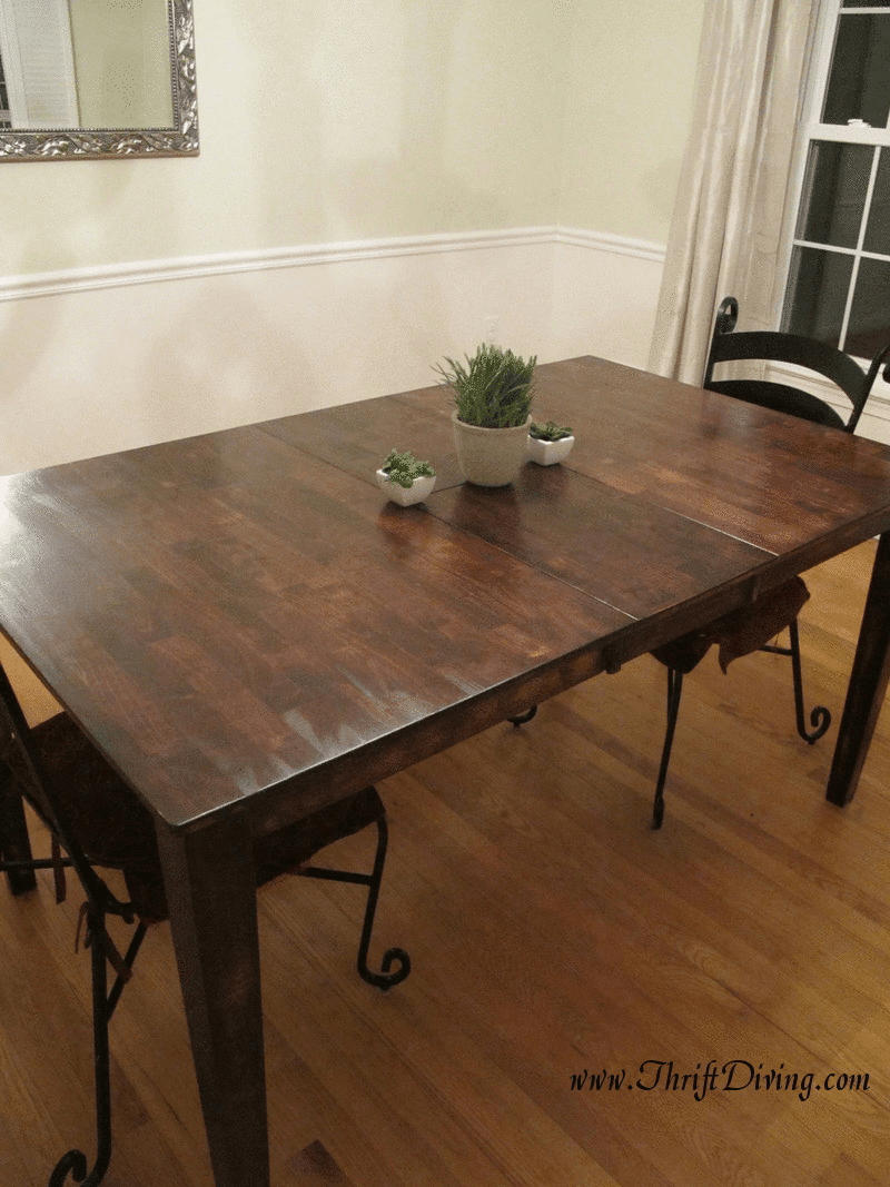 colossal diy failor rustic chic rustic kitchen tables Or Rustic Dining Room Table Makeover Thrift Diving Blog
