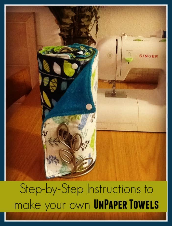 So cool! Make your own UnPaper Towels!