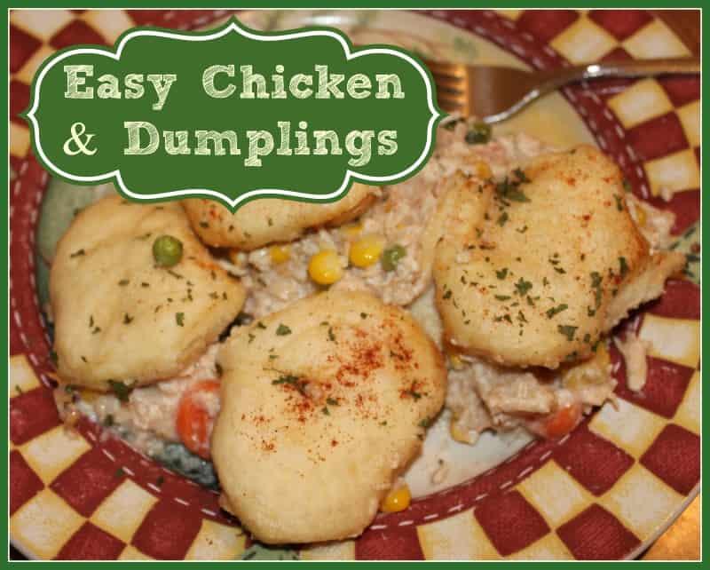 Quick Chicken and Dumplings recipe