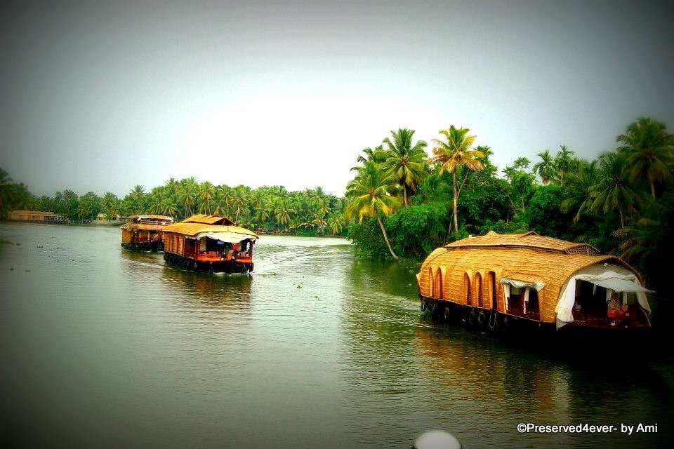 Houseboats in Kerala www.thrillingtravel.in