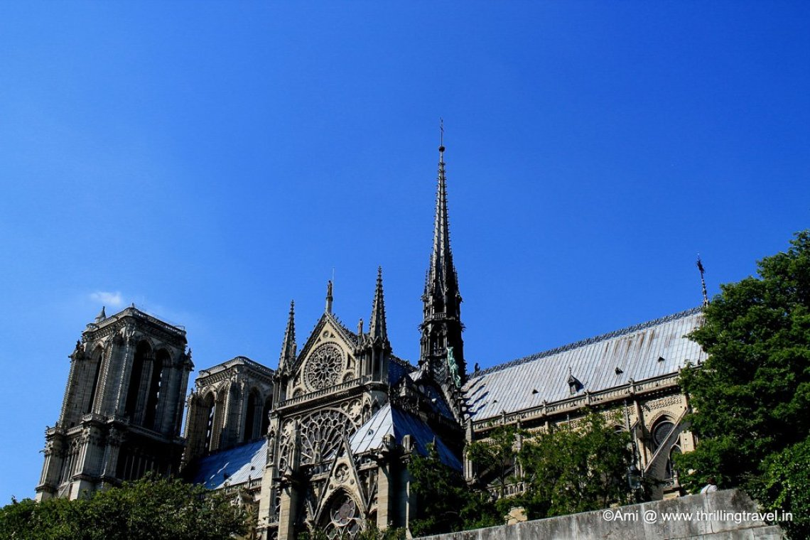The Notre Dame from the River Seine, Paris