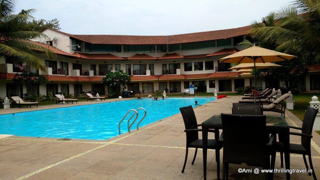 U shaped layout of the resort