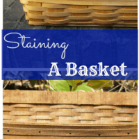 Staining a Wicker Basket