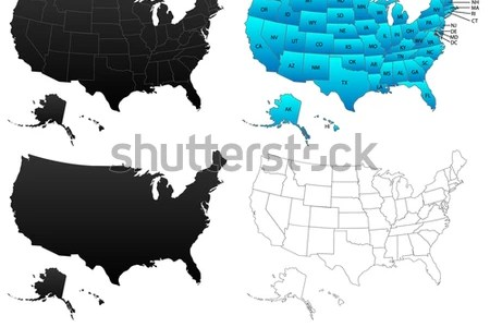 usa outline stock photos, royalty free images & vectors