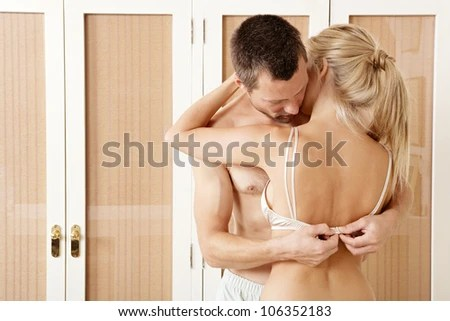 undressing each other for sex