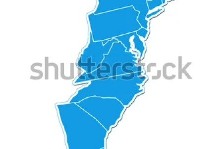 usa east coast map stock photo