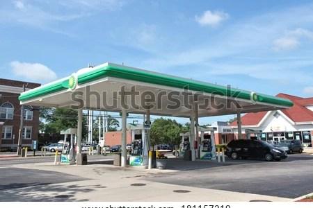 stock photo villa park usa june drivers fill their cars at bp gas station in villa park il bp 181157219