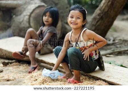 cambodia little girl back room