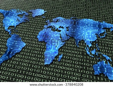 Symbol Global Digital World Communications Digital Stock     symbol of global digital world communications  digital electronic world map  isolated