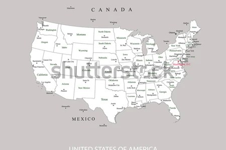Map Of United States With Names And Capitals - Us map states and capitals